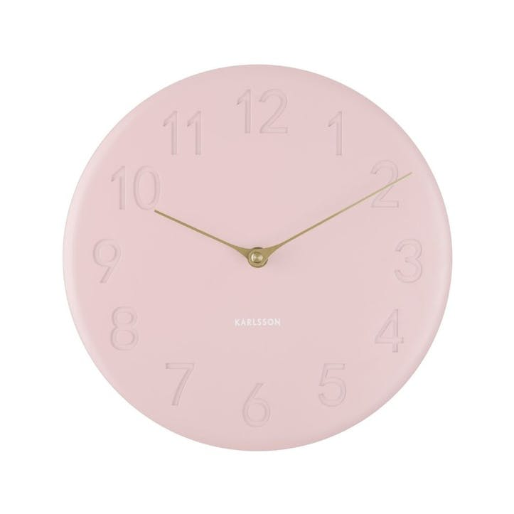 Sole Wall Clock, Pink