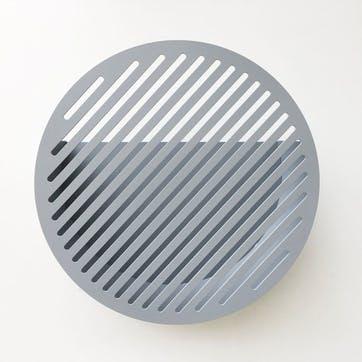 Diagonal, Large Wall Basket, Grey