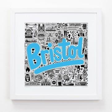 Hometown Bristol Print, 33cm