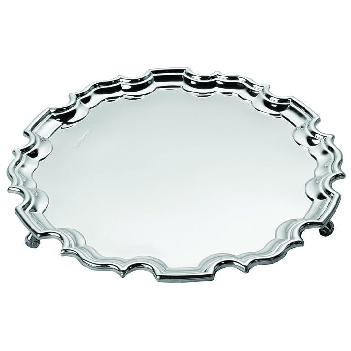 Sterling Silver Chippendale Waiter, 15cm