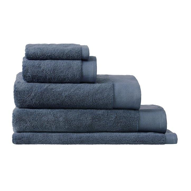 Luxury Retreat Smokey Blue Hand Towel