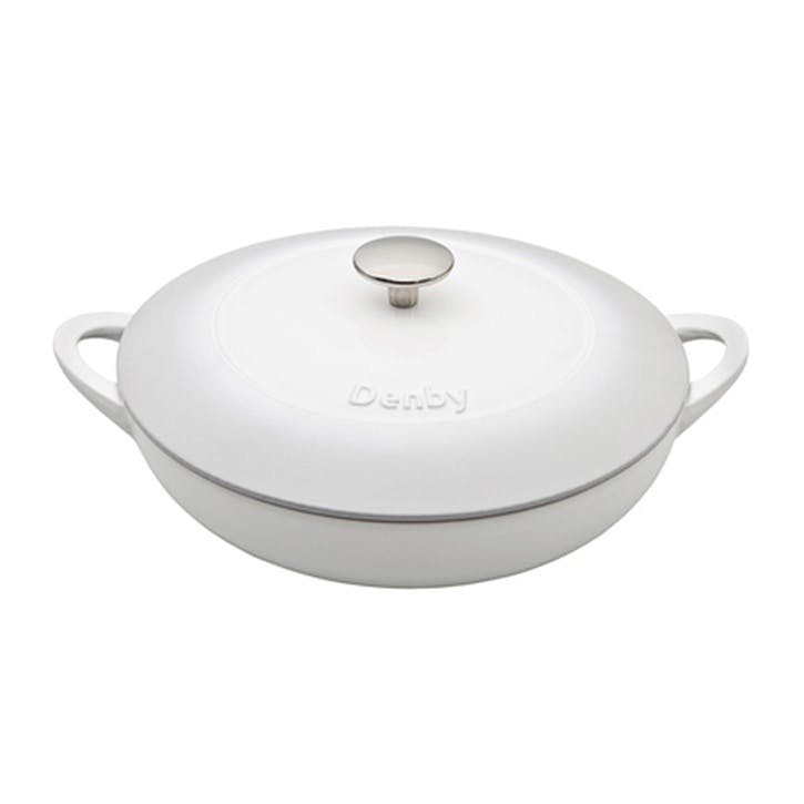 Cast Iron Natural Canvas Shallow Casserole Dish, 30cm