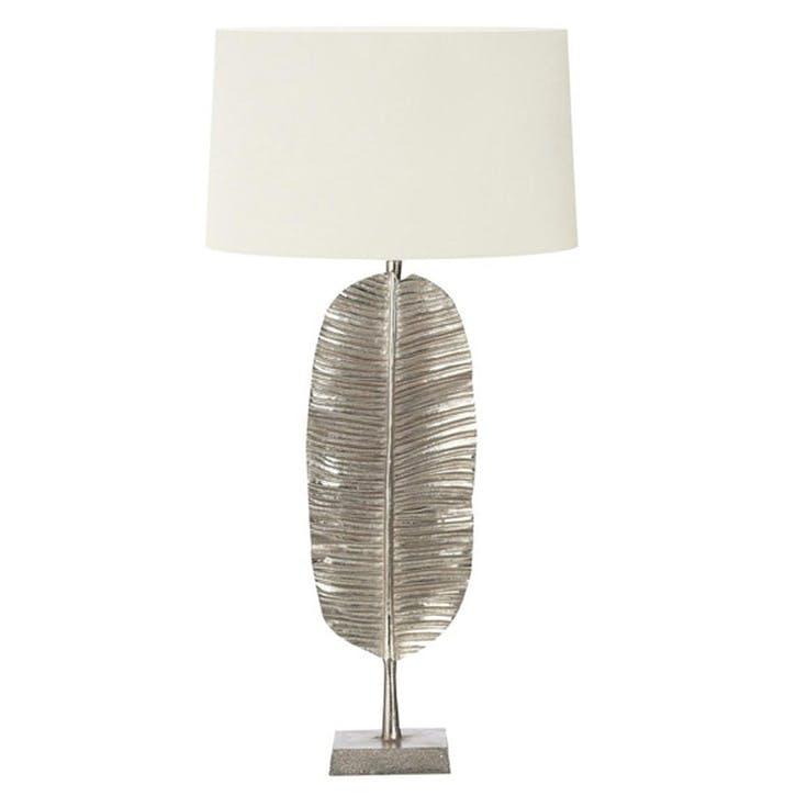 Kahili Silver Leaf Table Lamp