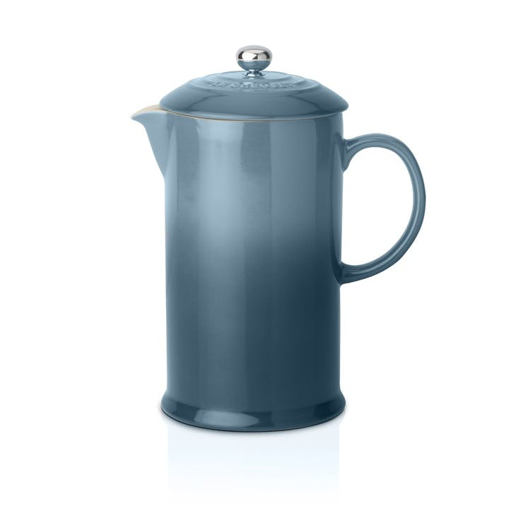 Stoneware Cafetiere with Metal Press; Marine