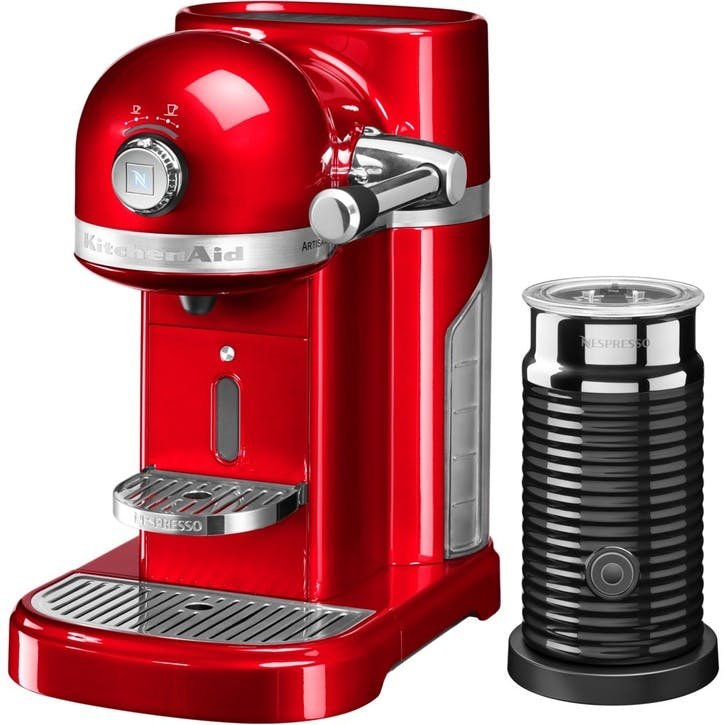 Artisan Nespresso With Aeroccino; Empire Red