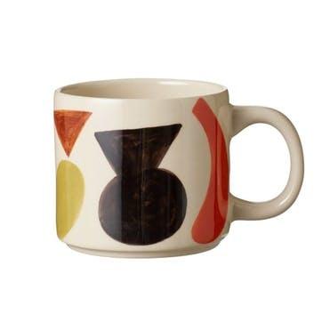 Clachan Abstract Multi Colour Mug, H9cm