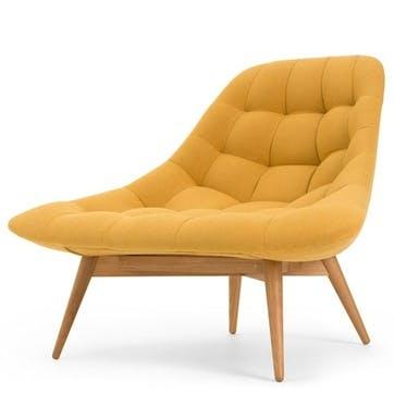 Kolton Accent Chair; Yolk Yellow