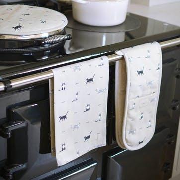 'Purrfect!' Tea Towel