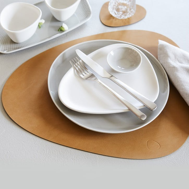 Curve Placemat, Set of 4, Burned Curry