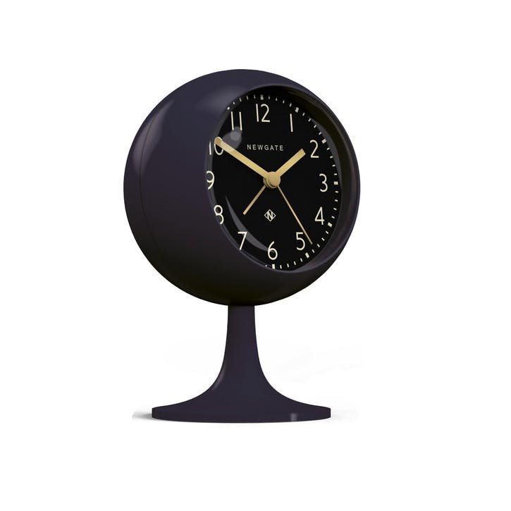 The Dome Alarm Clock, Dia. 12cm, Petrol Blue