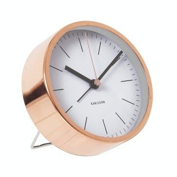 Minimal Alarm Clock, White