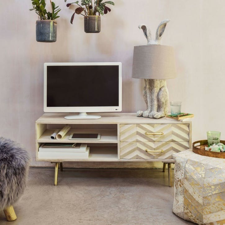 Ariella Chevron Media Cabinet