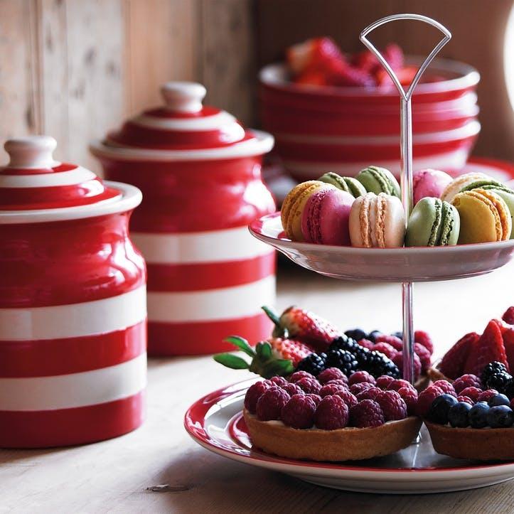 Cornish Red Plain Storage Jars, Set of 3