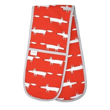Mr Fox Double Oven Glove, Red