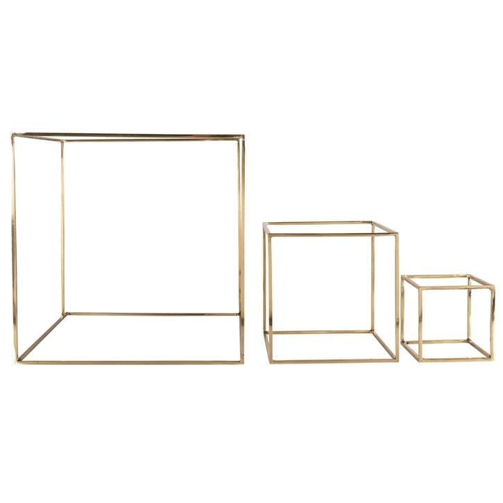 Geo Deco Squares, Set of 3