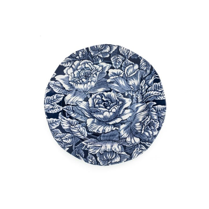 Ink Blue Hibiscus Side Plate