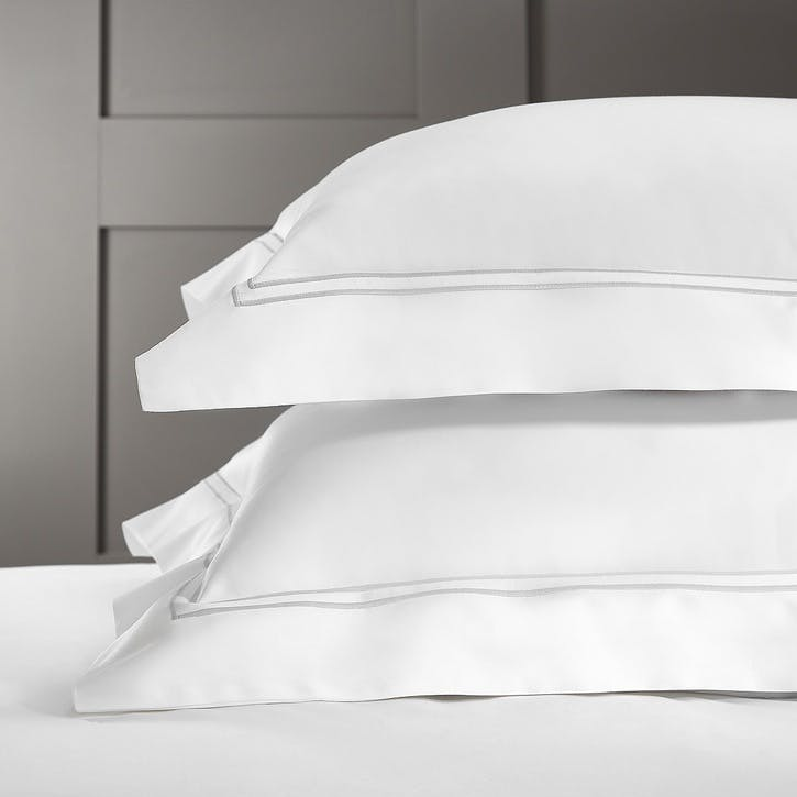 Symons Cord Oxford Pillowcase, Super King, White Silver