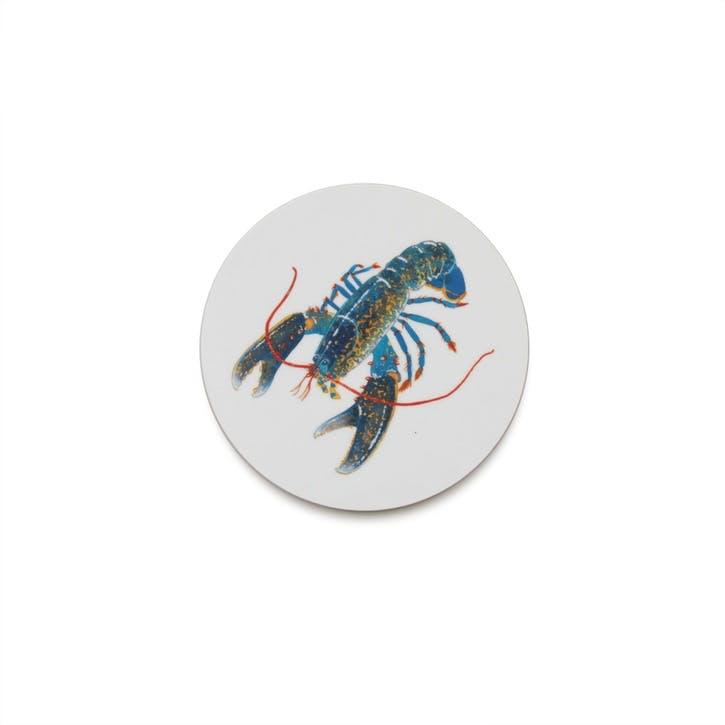 Seaflower Blue Lobster Coaster, 10cm, Blue