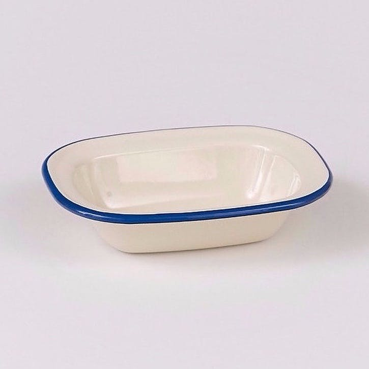 Pie Dish with Blue Rim, 26cm