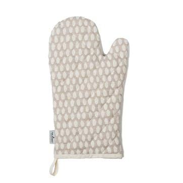 Elca Oven Glove, Linen On Fawn