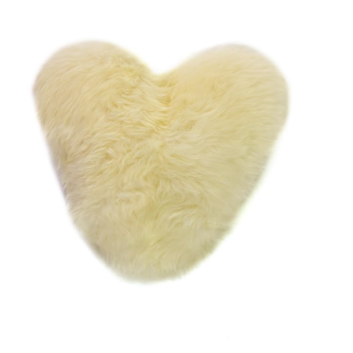 Baa Stool Calon Wlan Heart Cushion, 45cm x 45cm, Ivory