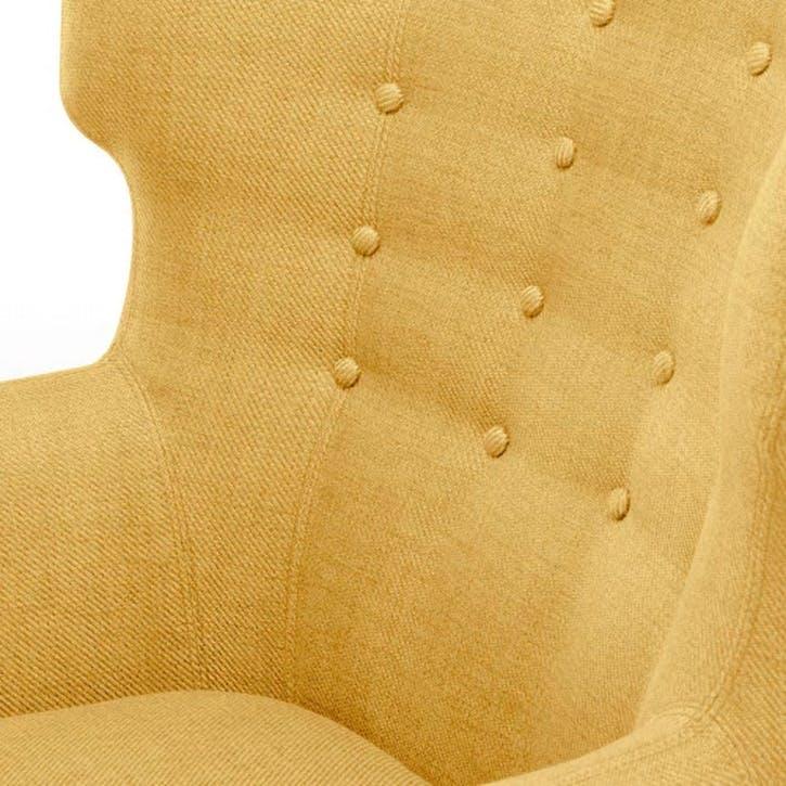 Kubrick Wing Back Chair; Ochre Yellow
