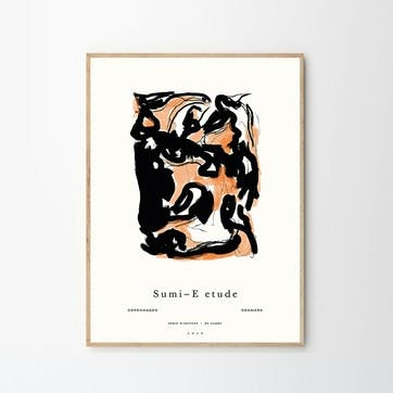 Sumi E 02,  By Garmi Art Print