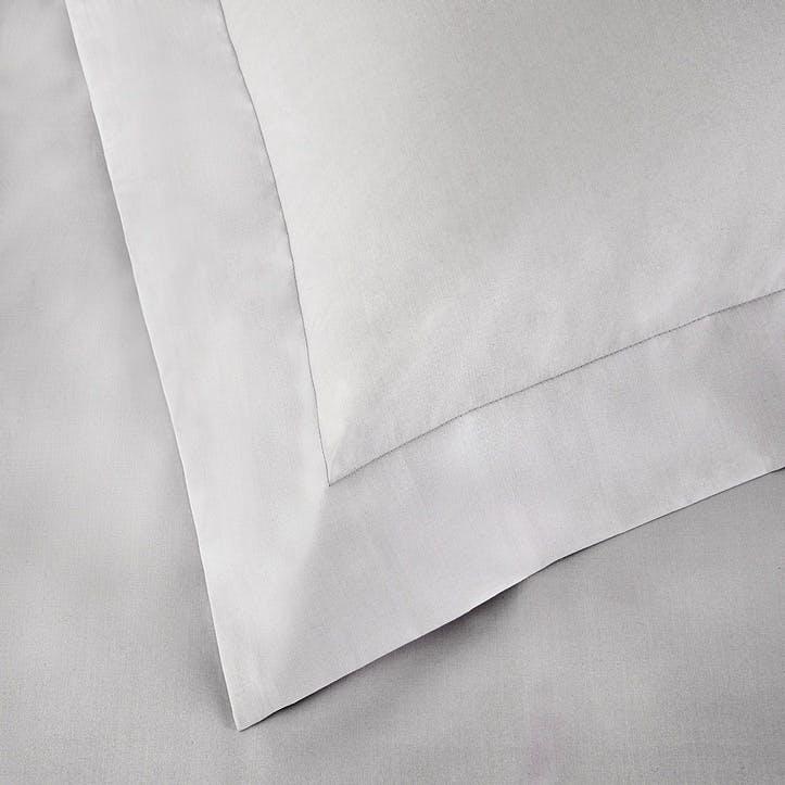 Essentials Egyptian Cotton 200 Thread Count Standard Oxford Pillowcase, Silver