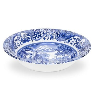 Blue Italian Cereal Bowls, Set of 4 - Small