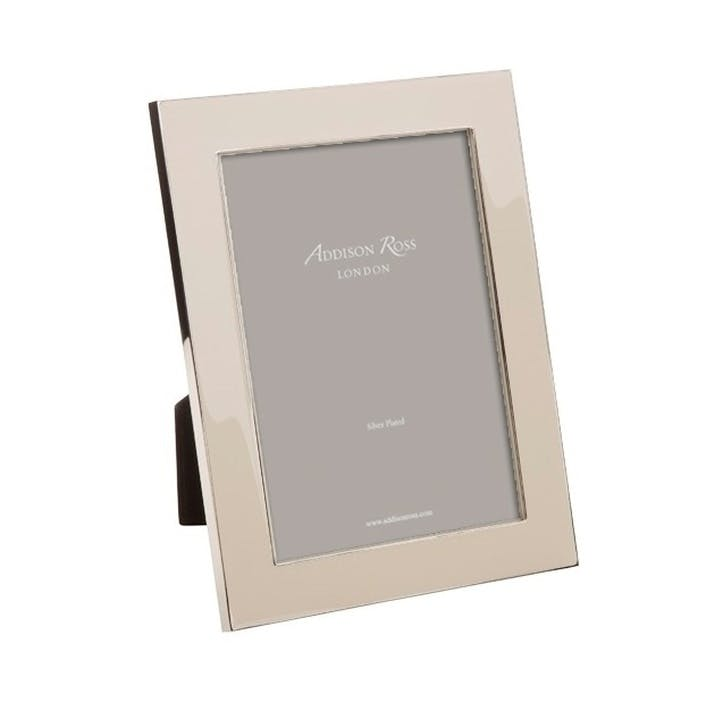 "Heritage Enamel Photo Frame - 5"" x 7""; Pebble"