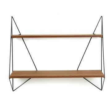 Butterfly Shelf, Large Shelf, Brown