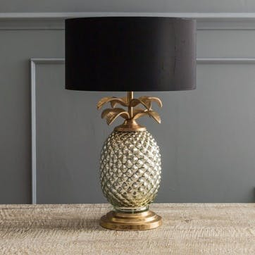 Silver And Gold Pineapple Lamp