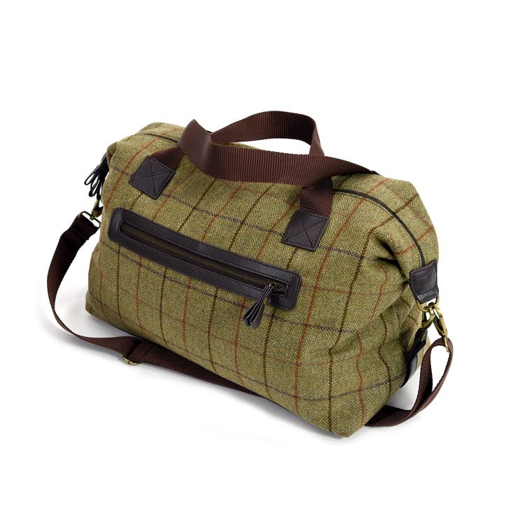 Weekend Bag; Khaki Crosshatch