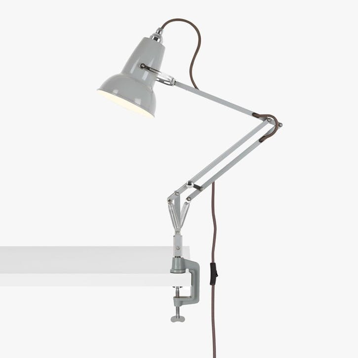 Mini Lamp with Desk Clamp Dove Grey
