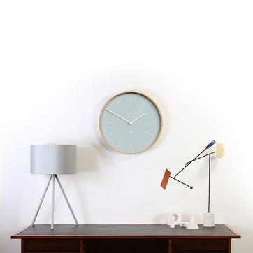 Mr Clarke Wall Clock, D40cm, Pale Blue