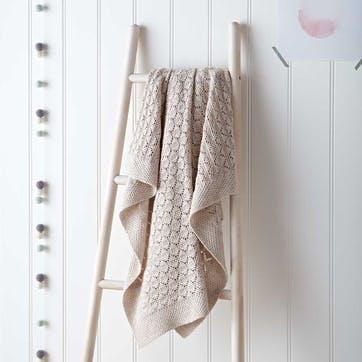 Heirloom Natural Blanket, W100 x L75cm, Natural