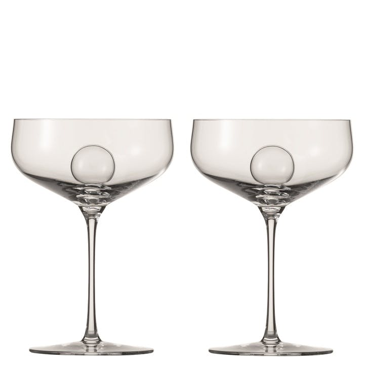 Air Sense Champagne Saucer, Set of 2