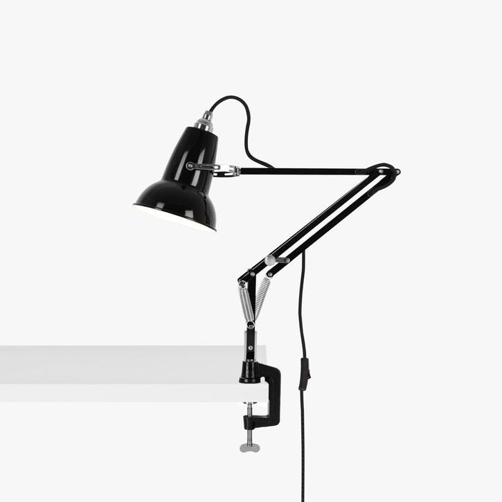 Original 1227 Mini Lamp with Desk Clamp, Jet Black