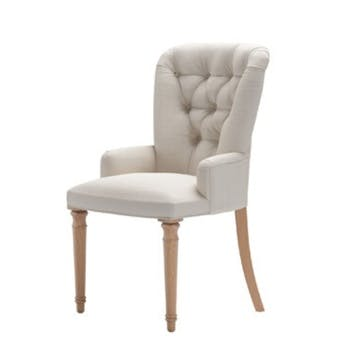Sinclair, Dining Chair, Taupe Brushed Linen Cotton
