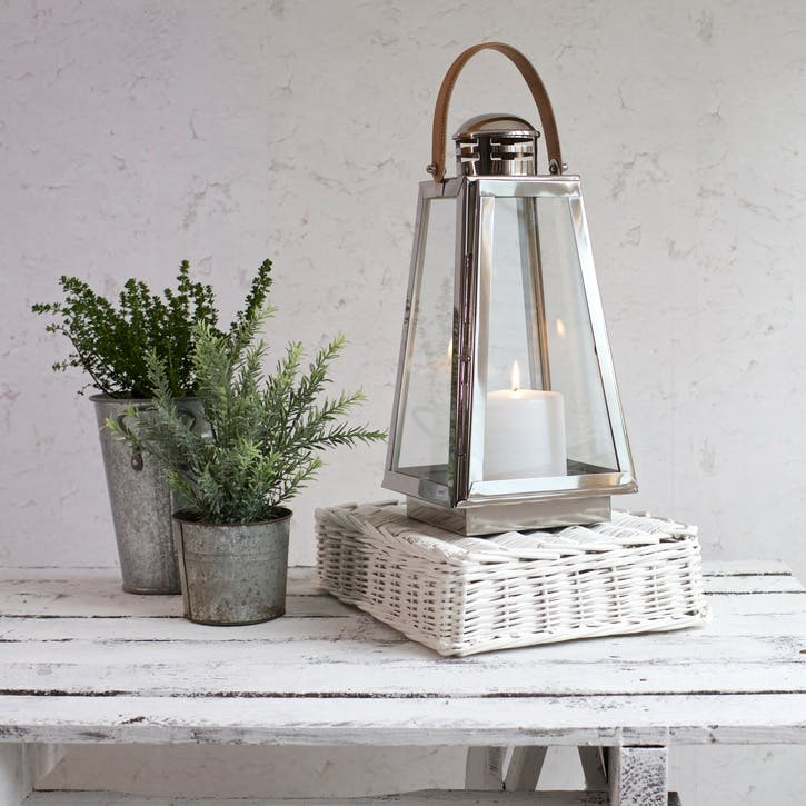 Dartmouth Stainless Steel and Leather Candle Lantern