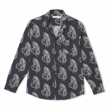 Tiger Collared Pyjama Shirt, Large