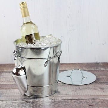 Galvanized Ice Bucket with Scoop