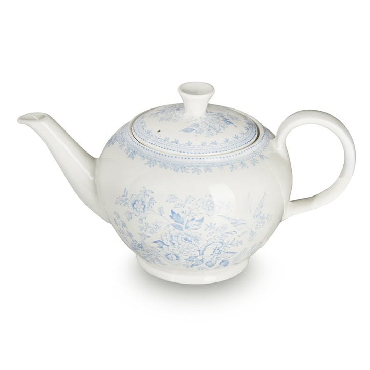 Asiatic Pheasants Teapot, 7 Cups, Blue