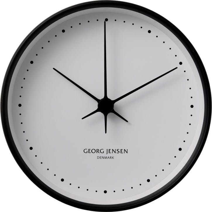 Koppel Wall Clock, Black, 22cm