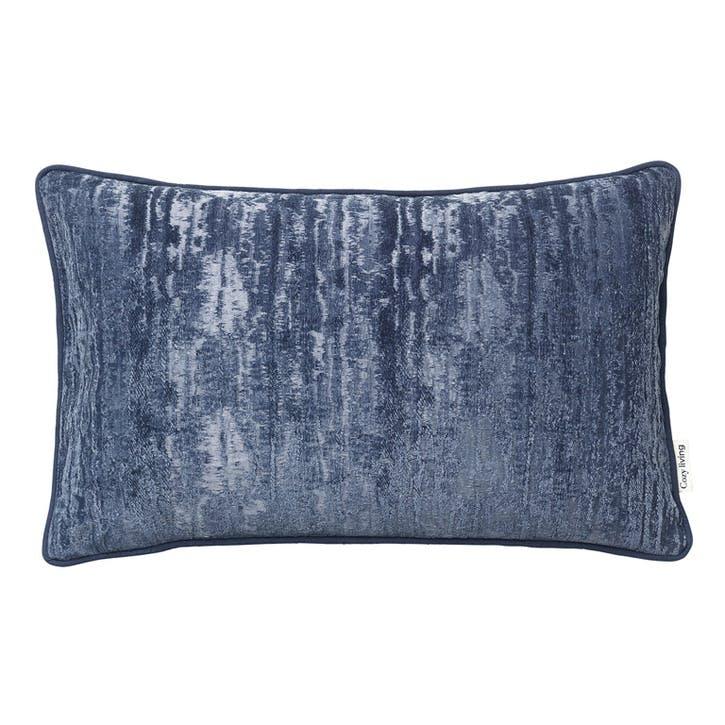 Velvet Jacquard Uluru Cushion, Royal Blue