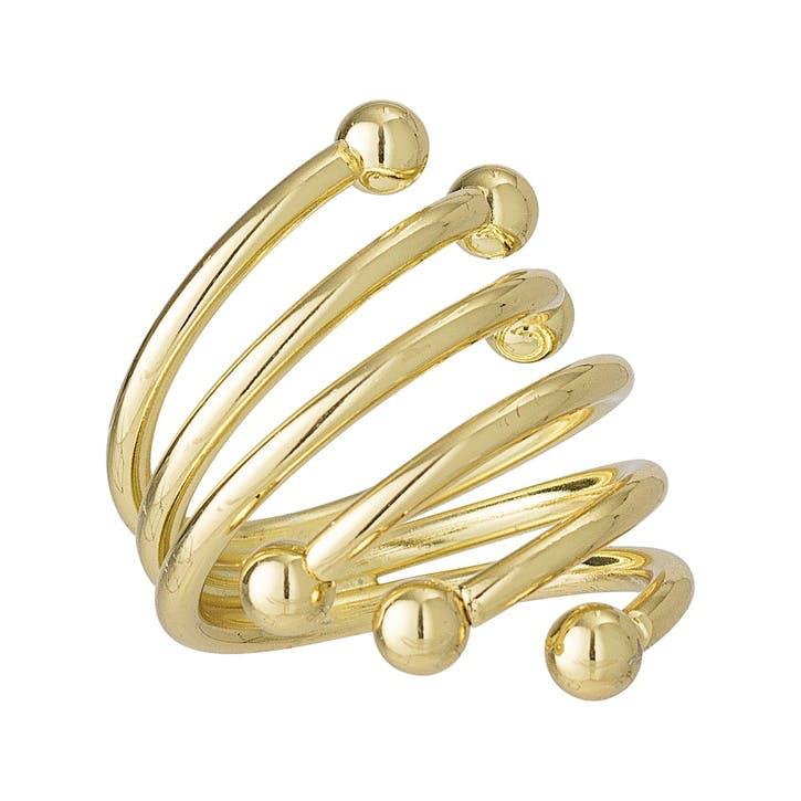Swirl Napkin Rings, Set of 4, Gold