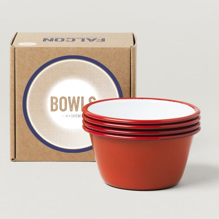 12cm Bowls, Postbox Red