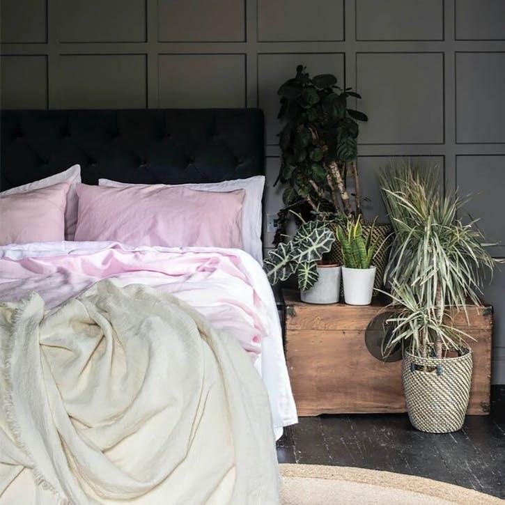 Complete Bedding Bundle Super King Set Blush Pink