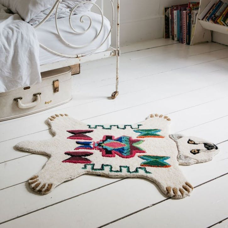 Aztec Polar Bear Rug