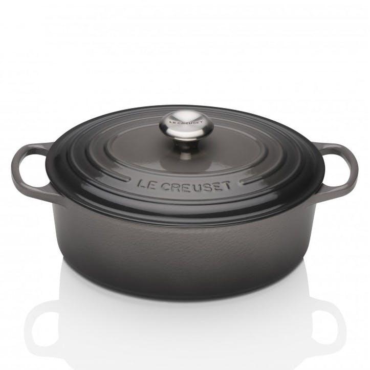 Cast Iron Oval Casserole - 27cm; Flint